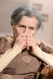 smutna piękna starsza kobieta Zdjęcia Royalty Free