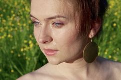 smutna portret kobieta Obraz Stock