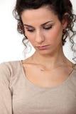 smutna portret kobieta Fotografia Royalty Free