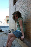 smutna przygnębiona dziewczyna obraz stock