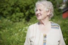 Smutna starsza kobieta Zdjęcia Royalty Free
