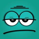 Smutna twarz Obraz Royalty Free