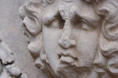 Smutna twarzy rzeźba fotografia royalty free