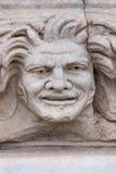 Smutna twarzy rzeźba Zdjęcia Royalty Free