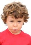 smutna urocza chłopiec Obrazy Royalty Free