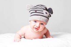 Smutna zawodząca mała chłopiec Zdjęcie Stock