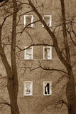 smutne okno obrazy stock