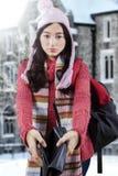 Smutnego dziewczyna seansu pusty portfel Fotografia Stock
