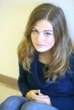 smutni dziewczyn potomstwa Zdjęcie Royalty Free