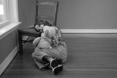 smutni dziewczyn potomstwa obraz stock