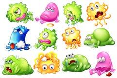 Smutni i barwiarscy potwory Fotografia Stock