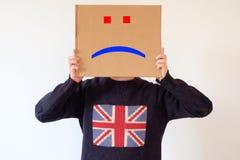 Smutny anglika mężczyzna Zdjęcie Stock