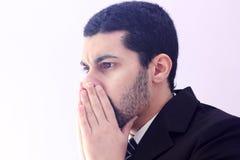 Smutny arabski biznesowy mężczyzna Obrazy Royalty Free
