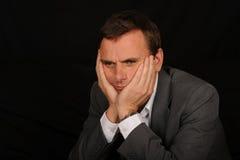 smutny biznesmena portret obraz royalty free