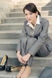 Smutny biznesowej kobiety odczucie bezradny Obraz Royalty Free