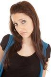 smutny brunetki wyrażenie Obrazy Stock