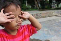 smutny chłopiec spojrzenie Obrazy Stock