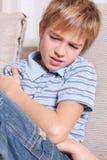 smutny chłopiec portret Fotografia Stock