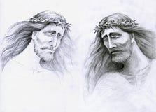 smutny Christ ciułacz Jesus Zdjęcia Royalty Free