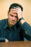 smutny człowiek Fotografia Royalty Free