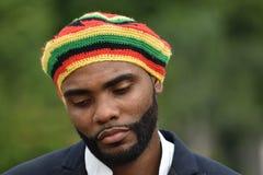 Smutny Dorosły Czarny Jamajski mężczyzna fotografia royalty free