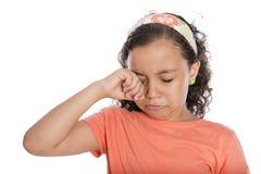 Smutny dziewczyna płacz Zdjęcia Stock