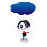smutny emo wektor Obraz Royalty Free
