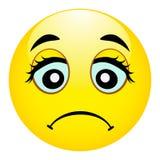 Smutny emoji Mylna emocja Ranny emoticon Wektorowa ilustracyjna uśmiech ikona Obraz Royalty Free