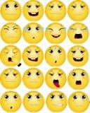 Smutny Emoticons wektoru set Zdjęcia Royalty Free
