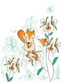 Smutny Fox ptak Zdjęcia Stock