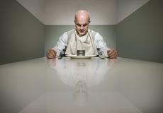 Smutny gość restauracji Obrazy Royalty Free