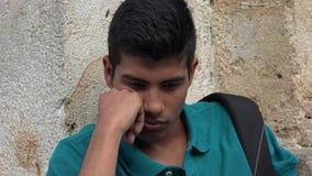 Smutny I Osamotniony Nastoletni Męski uczeń Zdjęcia Royalty Free