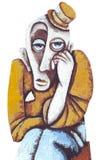 smutny klaun Fotografia Royalty Free