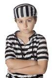 smutny kostiumowy dziecko więzień Fotografia Royalty Free