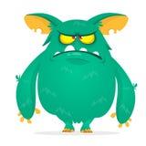Smutny kreskówka potwór Gderliwa potwór emocja Wektorowa Halloween ilustracja ilustracji