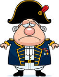 Smutny kreskówki Brytyjski Admiral ilustracji