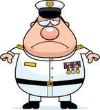 Smutny kreskówki marynarki wojennej Admiral royalty ilustracja