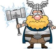 Smutny kreskówki Thor Zdjęcia Stock