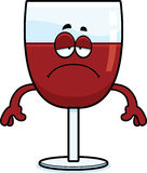 Smutny kreskówki wino ilustracja wektor
