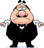 Smutny kreskówka kelner Zdjęcie Stock