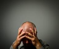 Smutny mężczyzna fotografia stock