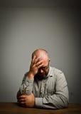 Smutny mężczyzna Obrazy Stock