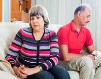 Smutny mężczyzna i kobieta podczas bełta zdjęcie royalty free