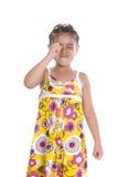 Smutny młoda dziewczyna płacz Obraz Stock