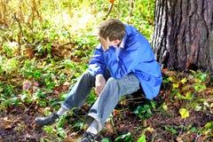Smutny młody człowiek Zdjęcie Royalty Free