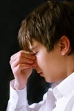 smutny nastolatek zdjęcia royalty free