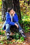 Smutny nastolatek Fotografia Stock