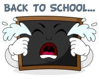 Smutny płaczu Blackboard postać z kreskówki Zdjęcia Royalty Free