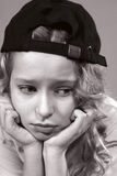smutny portreta nastolatek Zdjęcia Royalty Free