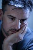 Smutny, przygnębiony młody człowiek, Fotografia Stock